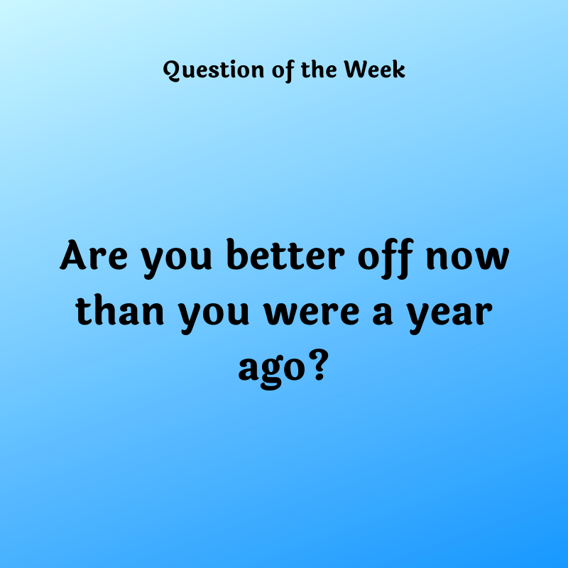 Are you better off now than you were a year ago?