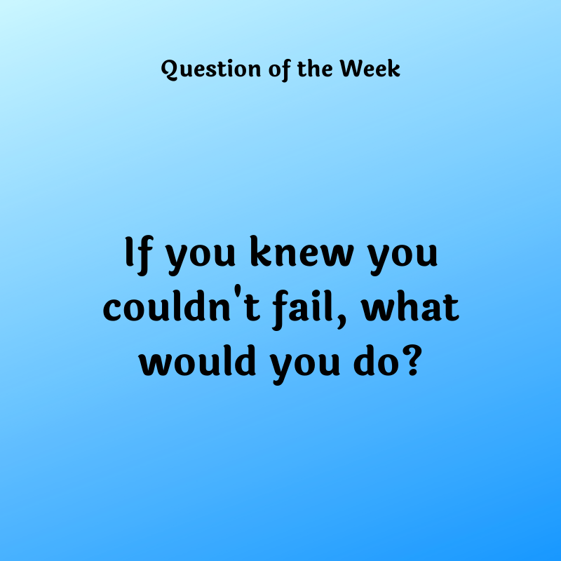 If you knew you couldn't fail, what would you do?